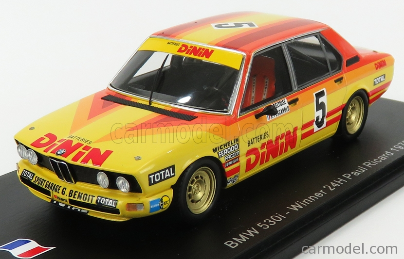 SPARK-MODEL SF007 Scale 1/43  BMW 5-SERIES 530i N 5 WINNER PAUL RICARD 1979 J.P.BELTOISE - H.PESCAROLO RED YELLOW