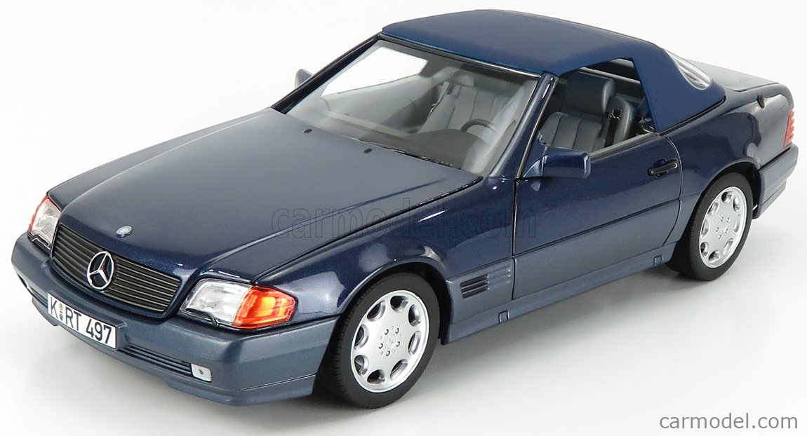 NOREV 183717 Scale 1/18  MERCEDES BENZ SL-CLASS 500SL CABRIOLET 1989 BLUE MET