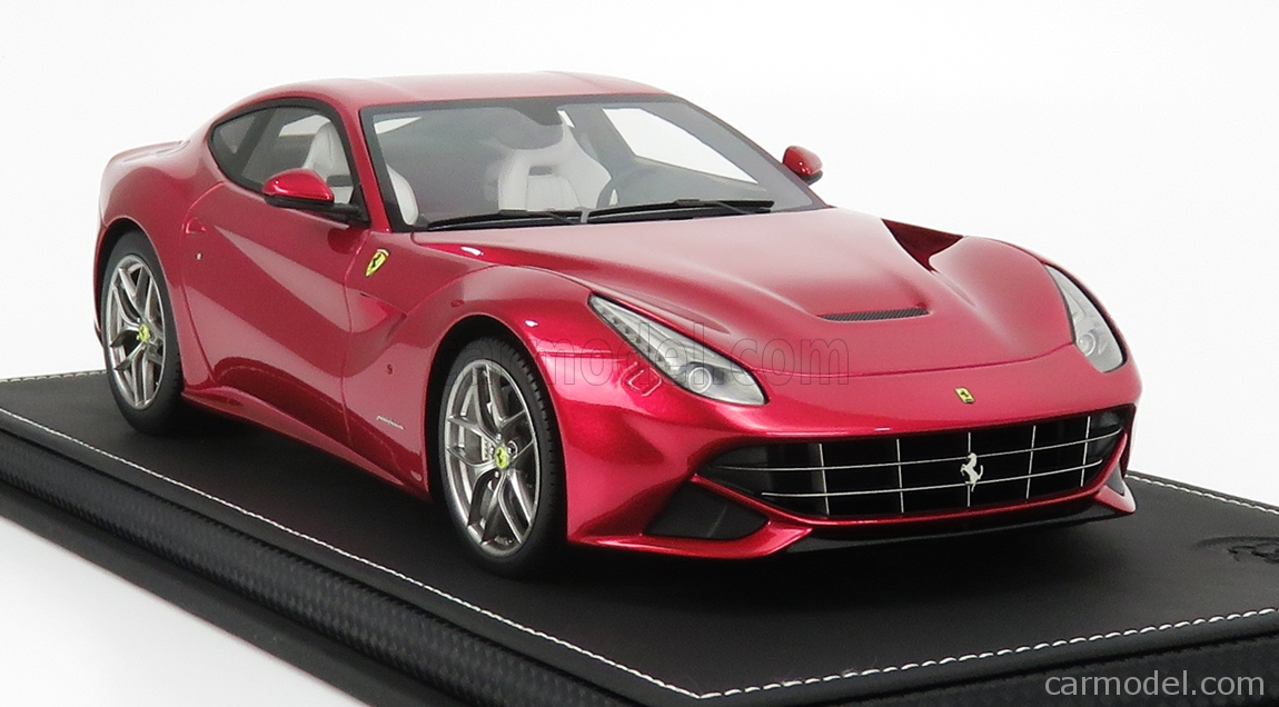 BBR-MODELS P1841FU-VET Scale 1/18  FERRARI F-12 BERLINETTA 2012 - CON VETRINA - WITH SHOWCASE FUCSIA MET