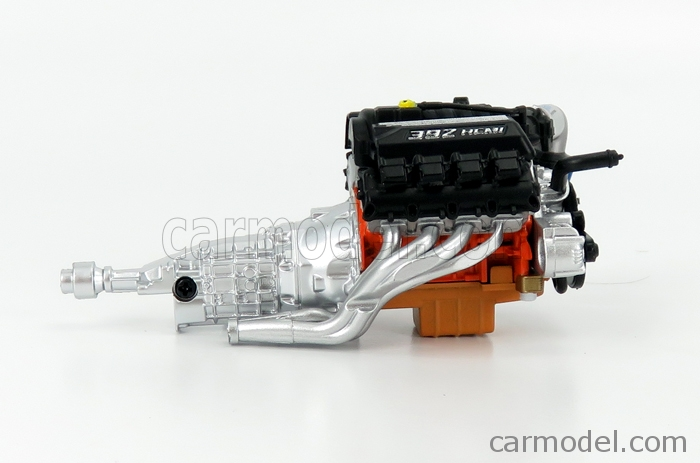 HIGHWAY61 18020 Scale 1/18  ACCESSORIES ENGINE AND TRANSMISSION FOR PLYMOUTH BARRACUDA CRATE 392 CUSTOM 1971 BLACK SILVER