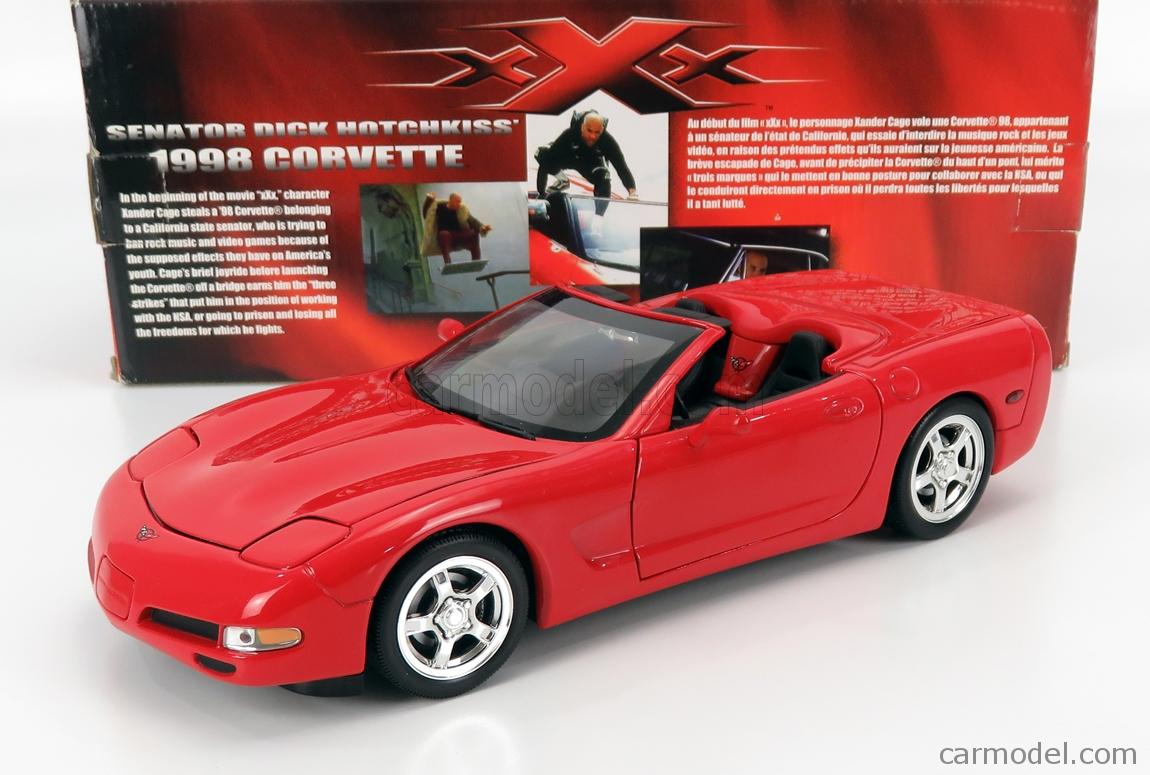 ERTL 33341 Masstab: 1/18  CHEVROLET CORVETTE C5 SPIDER SENATOR DICK HOTCHKISS VIN DIESEL 1998 - xXx MOVIE RED