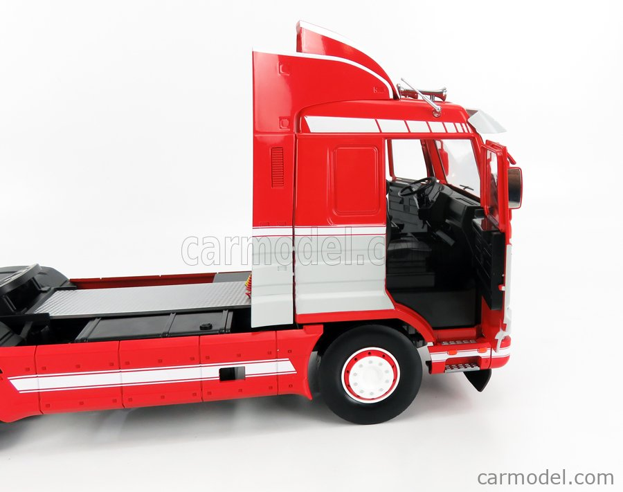 ROAD-KINGS RK180101 Scale 1/18  SCANIA 143M 500 STREAMLINE TRACTOR TRUCK 2-ASSI 1995 RED GREY WHITE