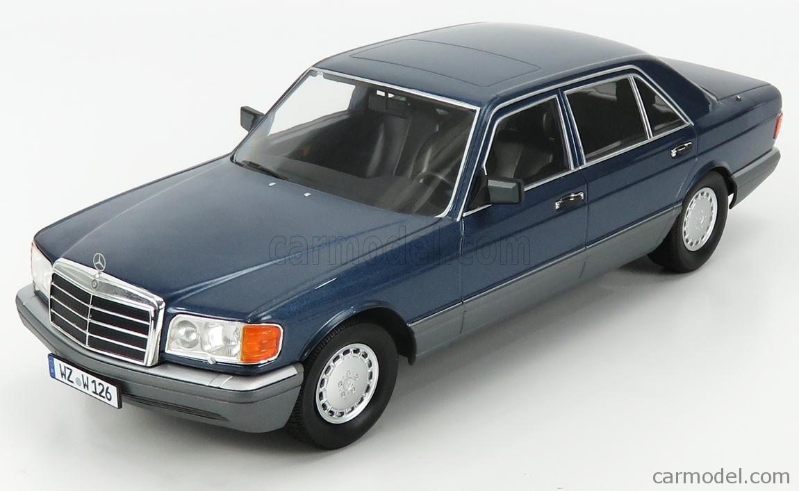 I-SCALE 118000000060 Scale 1/18  MERCEDES BENZ S-CLASS 560SEL (W126) 2S 1985 NAUTIK BLUE