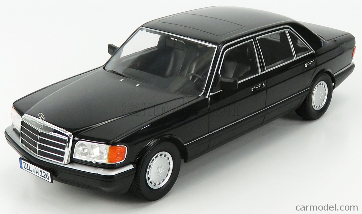 I-SCALE 118000000058 Scale 1/18  MERCEDES BENZ S-CLASS 560SEL (W126) 2S 1985 BLACK