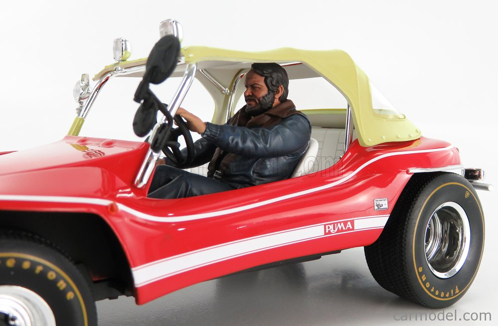 CLC-MODELS 72457 Scale 1/18  PUMA DUNE BUGGY WITH BUD SPENCER FIGURE 1972 RED