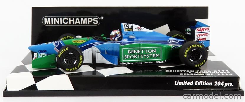 Benetton Ford B194 Jos Verstappen Formel 1 Belgien 1994 1:43 Minichamps NEU