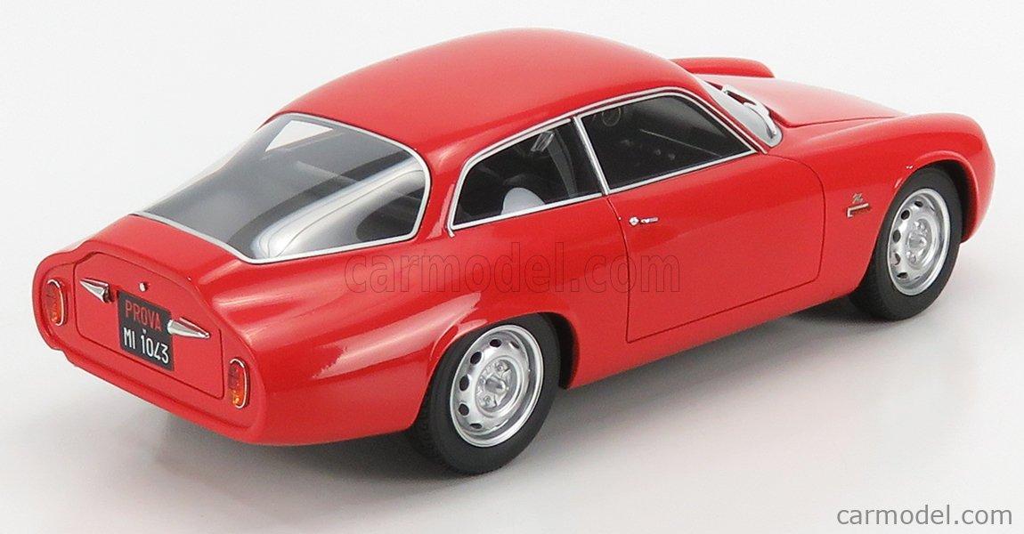 CULT-SCALE MODELS CML043-1 Scale 1/18  ALFA ROMEO GIULIETTA SPRINT ZAGATO CODA TRONCA 1961 ALFA RED