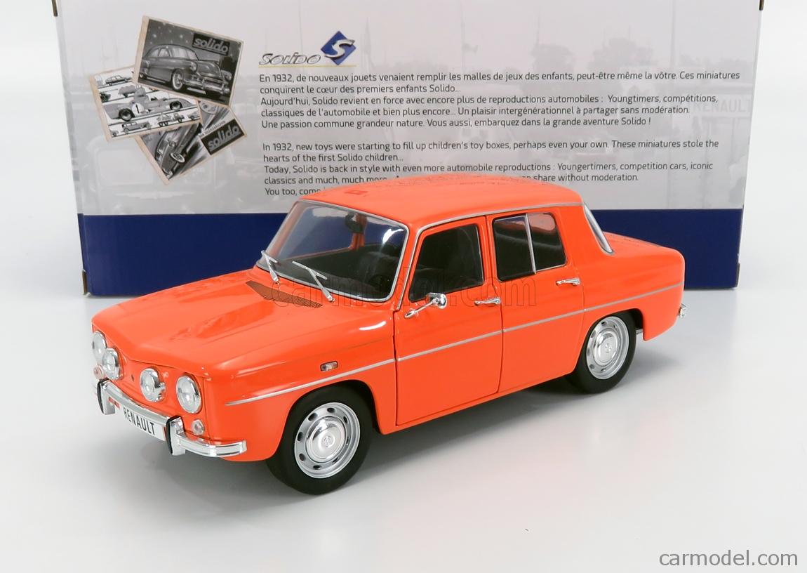 Solido Soli1803603 Renault 8 Gordini TS Orange 1967 1//18