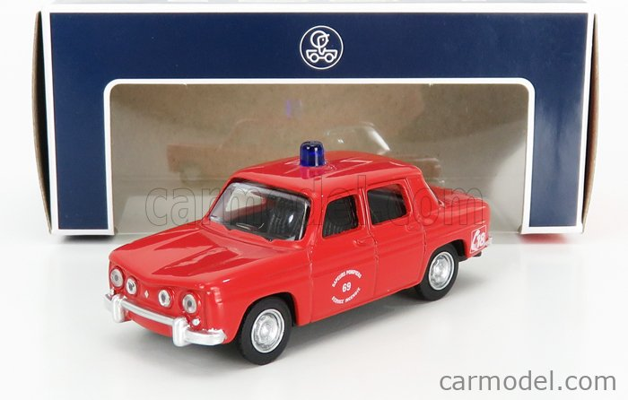 NOREV 319250-319251 Scale 1/64  RENAULT R8 SAPEURS POMPIERS 1966 RED