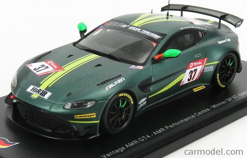 Spark Model Sg534 Masstab 1 43 Aston Martin Vantage Amr Gt4 Team Aston Martin Racing N 37 Winner Sp 8t Class 24h Nurburgring 2019 J Chadwick P Cate A Brundle Green