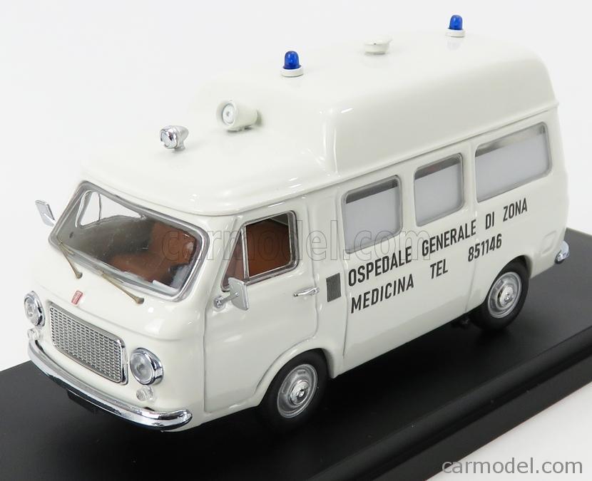 RIO-MODELS 4633 Scale 1/43  FIAT 238 AMBULANZA - STRAGE DI BOLOGNA 02/08/1980 ORE 10.25 - MASSACRE OF BOLOGNA-  ITALY WHITE