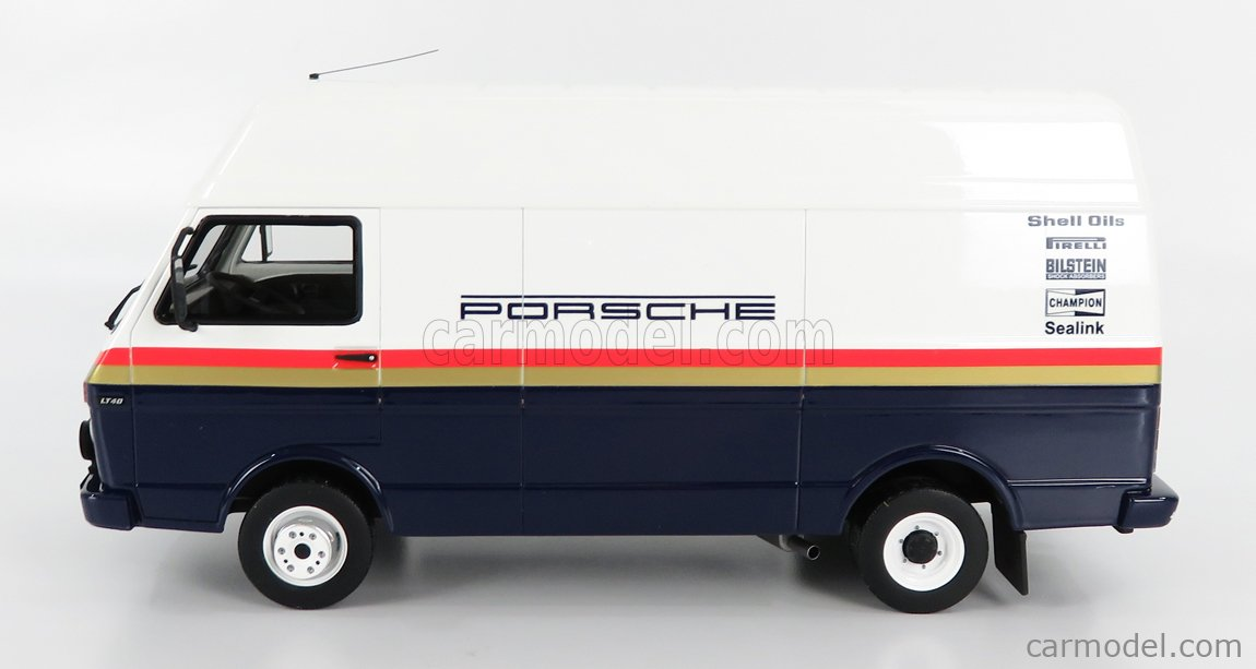 OTTO-MOBILE OT907 Scale 1/18  VOLKSWAGEN LT35 LWB VAN TEAM ROTHMANS RALLY PORSCHE ASSISTANCE 1985 BLUE WHITE