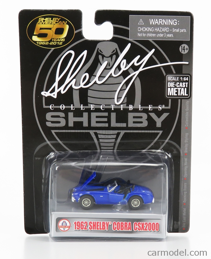 SHELBY-COLLECTIBLES 63350 Scale 1/64  AC COBRA FORD SHELBY CSX2000 SPIDER 1962 BLUE