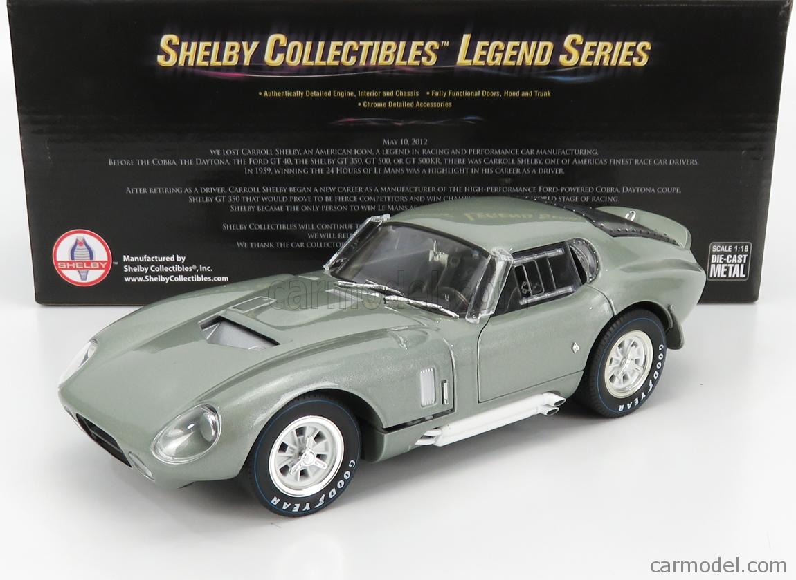 SHELBY-COLLECTIBLES SHELBY132 Scale 1/18  AC COBRA SHELBY COBRA DAYTONA COUPE 1965 SILVER