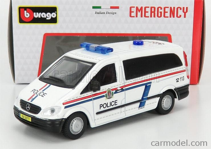 BURAGO BU32009W Echelle 1/50  MERCEDES BENZ VITO VAN POLICE 2010 WHITE