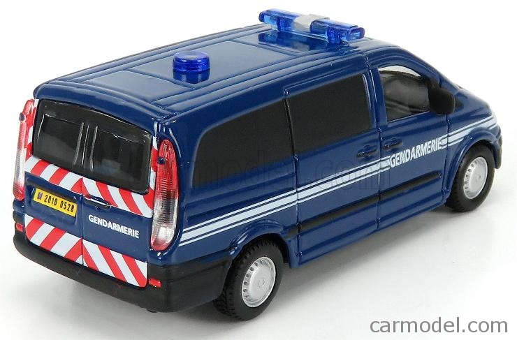 BURAGO BU32009B Echelle 1/50  MERCEDES BENZ VITO VAN GENDARMERIE 2010 BLUE