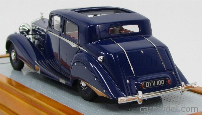 ILARIO-MODEL IL43051 Scale 1/43  ROLLS ROYCE PIII 3BT85 SEDANCA DE VILLE HOOPER 1937 - OPEN ROOF BLUE