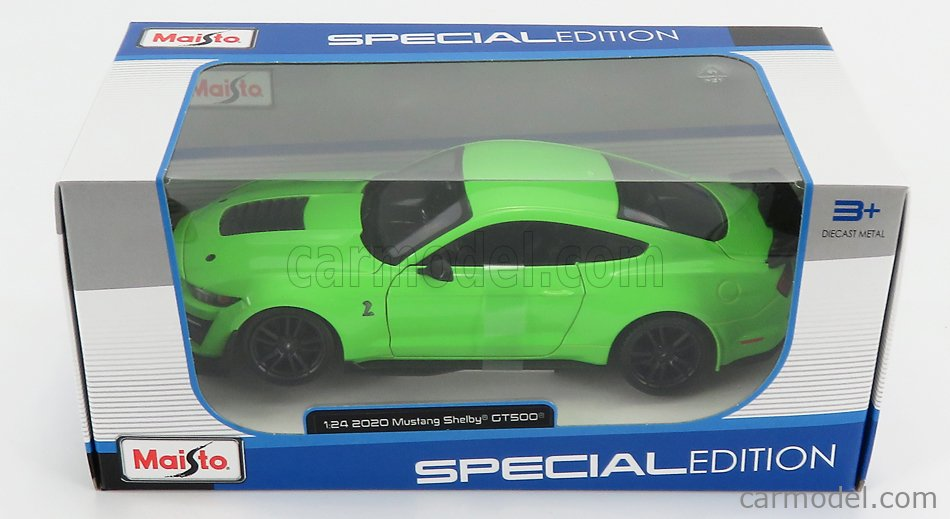 MAISTO 31532GR Scale 1/24  FORD USA MUSTANG SHELBY GT500 2020 GREEN