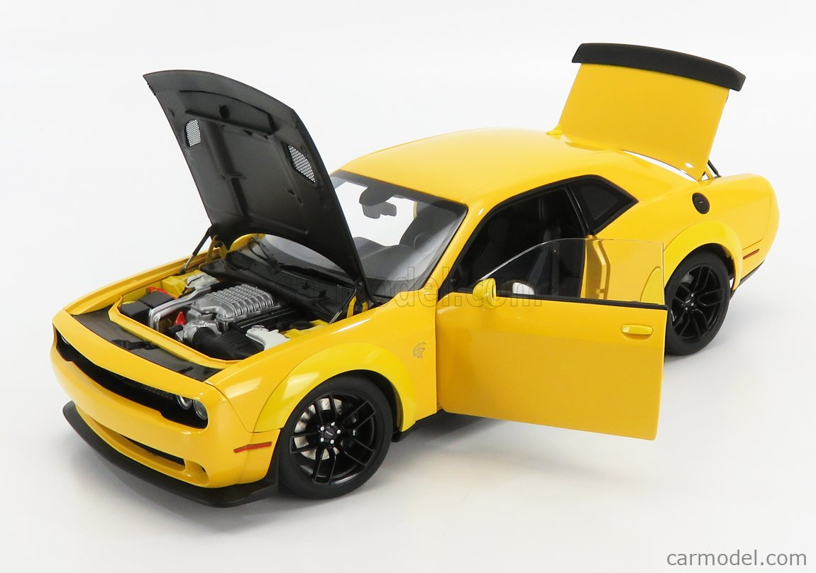AUTOART 71737 Scale 1/18  DODGE CHALLENGER SRT HELLCAT 2018 YELLOW JACKET SATIN BLACK