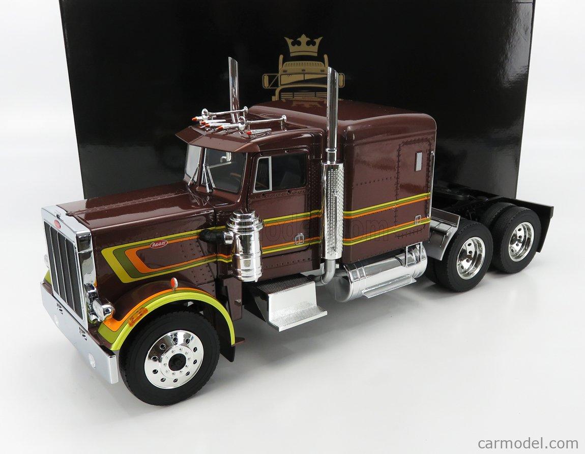 ROAD-KINGS RK180081 Scale 1/18  PETERBILT 359 TRACTOR TRUCK 3-ASSI 1967 BROWN MET
