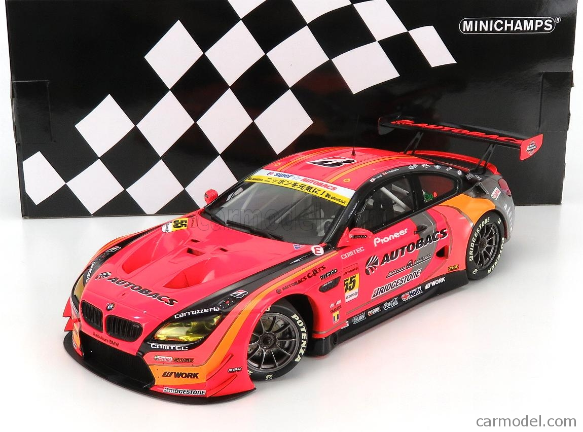 MINICHAMPS 155172655 Scale 1/18  BMW 6-SERIES M6 GT3 TEAM AUTOBACS AGURI RACING N 55 SUPER GT300 2017 S.TAKAGI - S.WALKINGSHAW ORANGE RED GREY