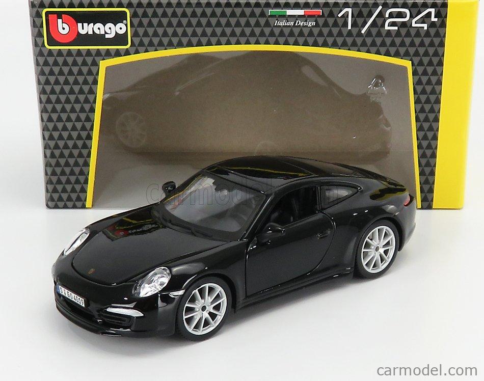 BURAGO BU21065BK Scale 1/24  PORSCHE 911 991 CARRERA S 2012 BLACK
