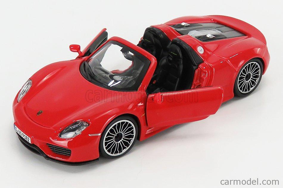 BURAGO BU21076R Scale 1/24  PORSCHE 918 SPYDER 2010 RED