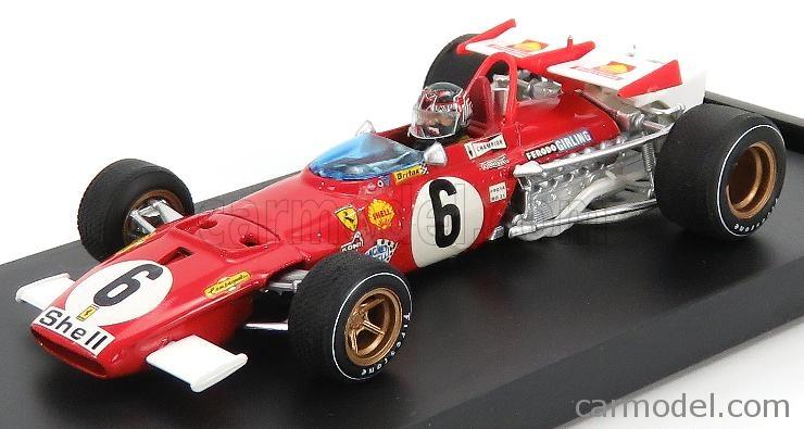 BRUMM R313B-CH-UPD-2020 Escala 1/43  FERRARI F1 312B N 6 ITALY GP 1970 I.GIUNTI - WITH DRIVER FIGURE RED WHITE