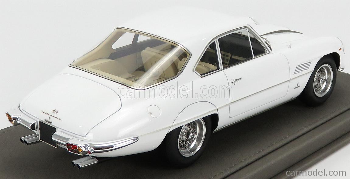 BBR-MODELS BBR1849D-VET Scala 1/18  FERRARI 400SA SUPERAMERICA 1-SERIES COUPE 1961 - CON VETRINA - WITH SHOWCASE WHITE