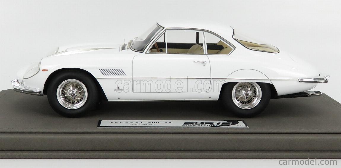 BBR-MODELS BBR1849D-VET Masstab: 1/18  FERRARI 400SA SUPERAMERICA 1-SERIES COUPE 1961 - CON VETRINA - WITH SHOWCASE WHITE