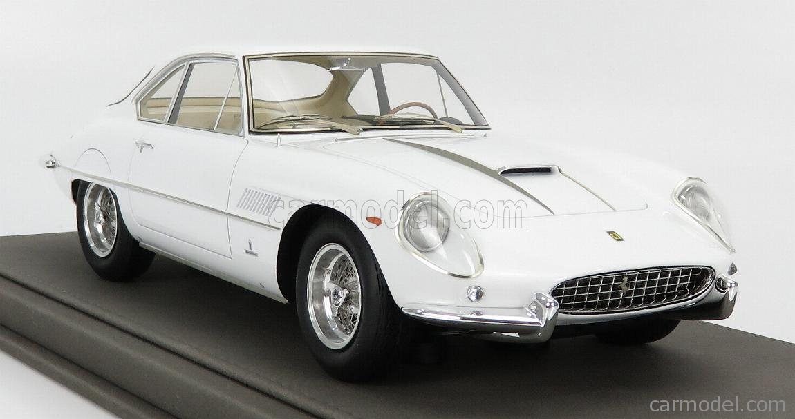 BBR-MODELS BBR1849D-VET Scale 1/18  FERRARI 400SA SUPERAMERICA 1-SERIES COUPE 1961 - CON VETRINA - WITH SHOWCASE WHITE