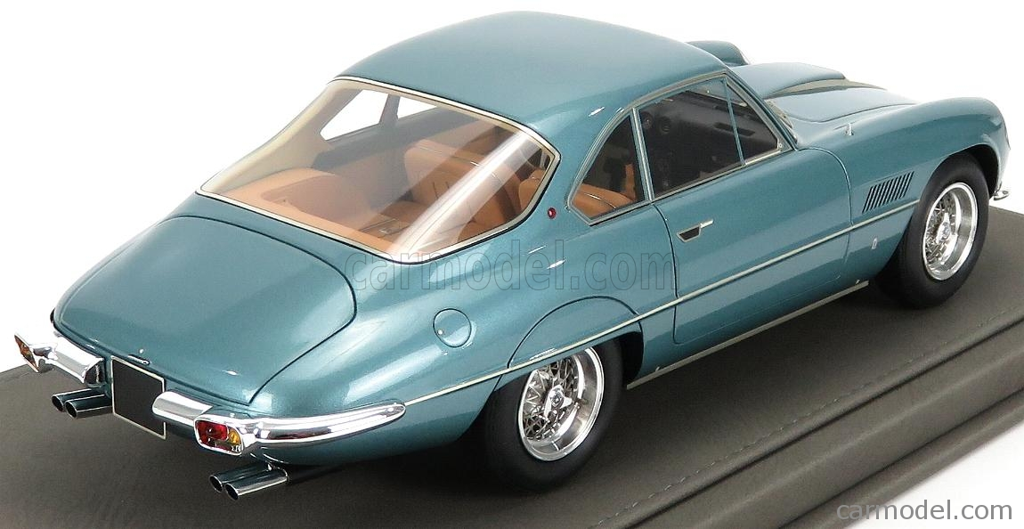 BBR-MODELS BBR1849B-VET Masstab: 1/18  FERRARI 400SA SUPERAMERICA 1-SERIES COUPE 1961 - CON VETRINA - WITH SHOWCASE TURQUOISE
