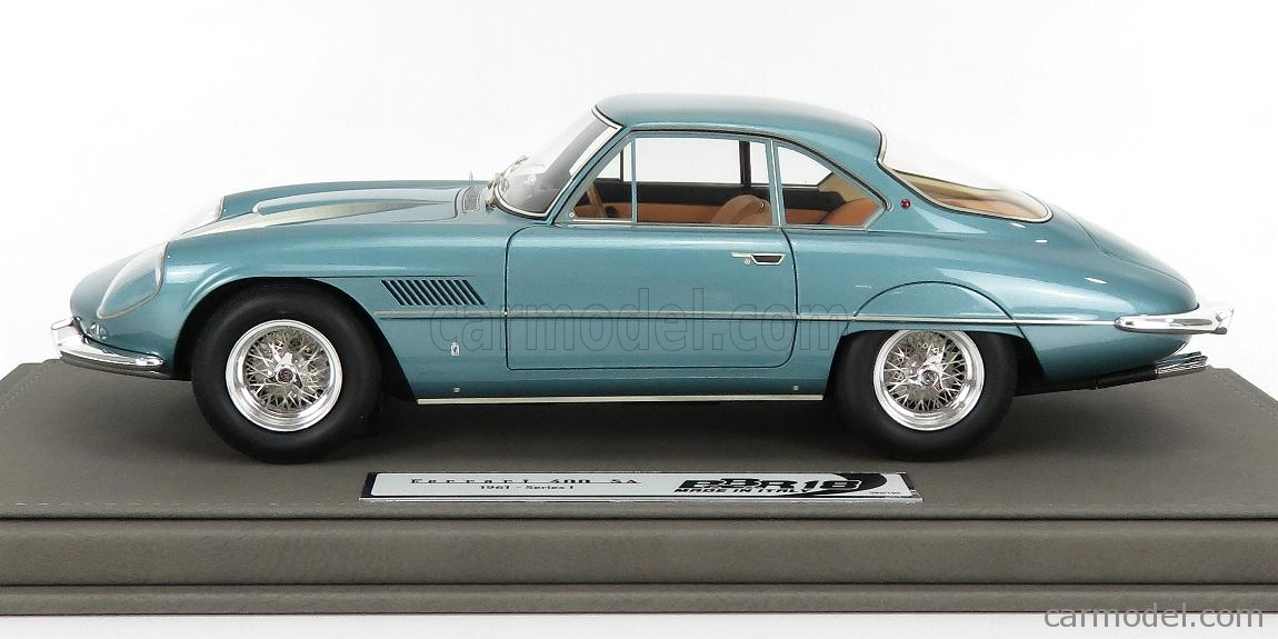 BBR-MODELS BBR1849B-VET Echelle 1/18  FERRARI 400SA SUPERAMERICA 1-SERIES COUPE 1961 - CON VETRINA - WITH SHOWCASE TURQUOISE