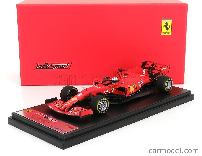 LOOKSMART LSF1027 Scale 1/43  FERRARI F1  SF1000 TEAM SCUDERIA FERRARI MISSION WINNOW N 5 TEST BARCELONA SEASON 2020 SEBASTIAN VETTEL MATT RED