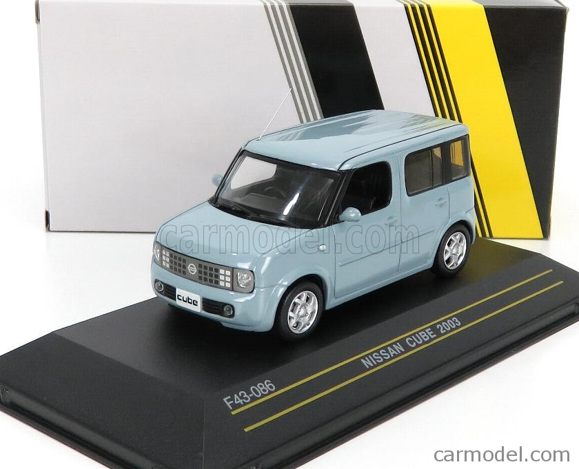 FIRST43-MODELS F43-086 Scale 1/43  NISSAN CUBE 2003 LIGHT BLUE MET