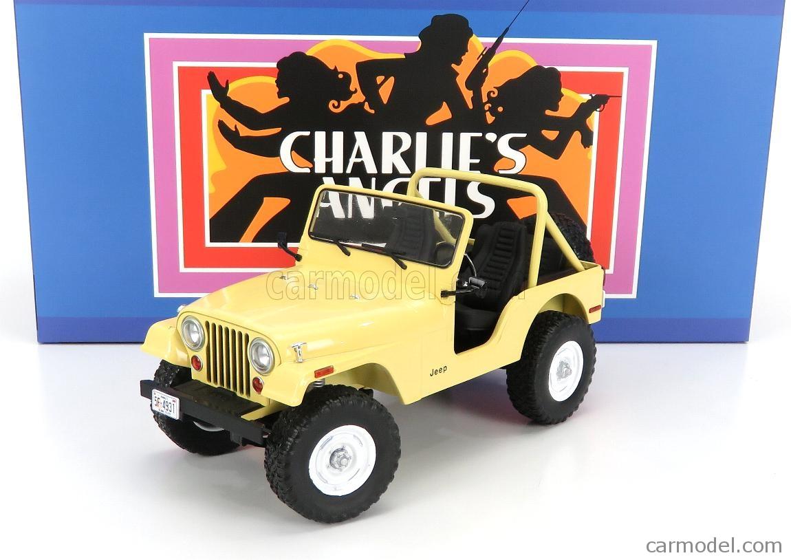 GREENLIGHT 19078 Masstab: 1/18  JEEP CJ-5 OPEN 1980 - CHARLIE'S ANGELS BEIGE