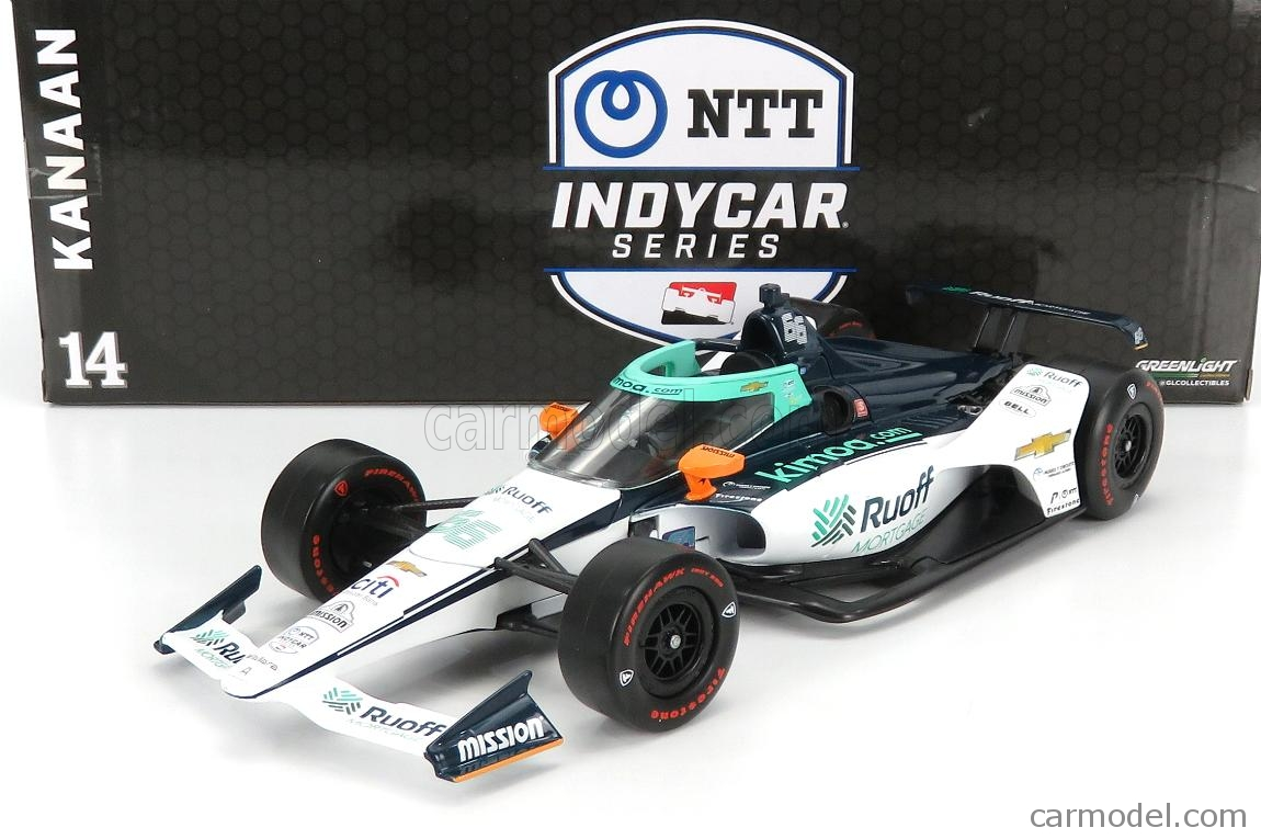 GREENLIGHT 11097 Scala 1/18  CHEVROLET TEAM ARROW McLAREN SP N 66 INDIANAPOLIS INDY 500 INDYCAR SERIES 2020 FERNANDO ALONSO WHITE BLUE