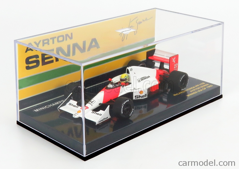 MINICHAMPS 547904327 Echelle 1/43  McLAREN F1  MP4/5B HONDA V10 TEAM MARLBORO N 27 WINNER USA GP AYRTON SENNA 1990 WORLD CHAMPION RED WHITE
