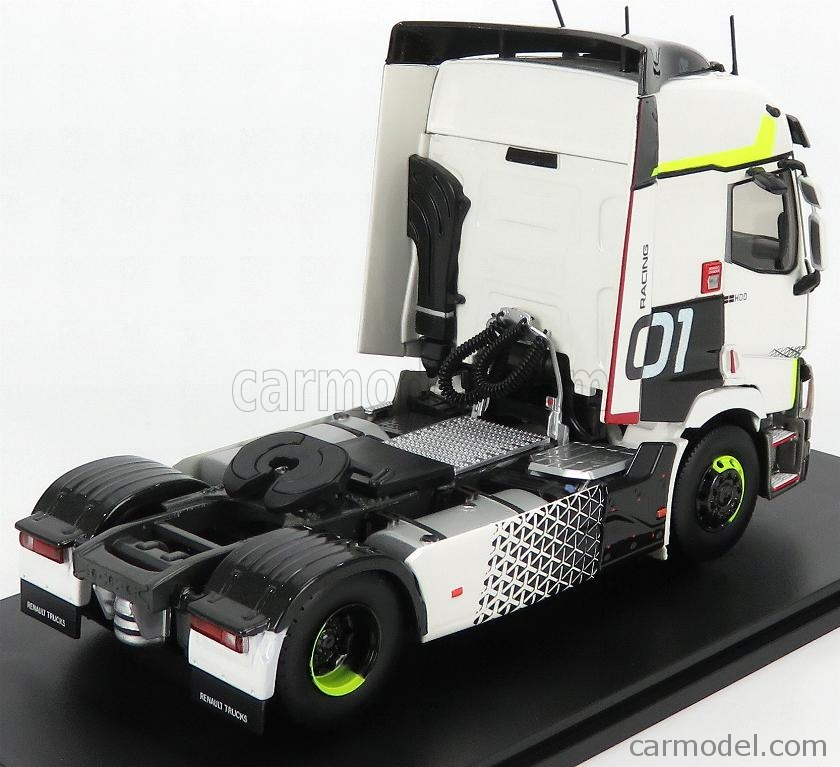 ELIGOR 116666 Echelle 1/43  RENAULT T460 TRACTOR TRUCK N 01 RACING 2-ASSI 2016 WHITE BLACK LIGHT GREEN