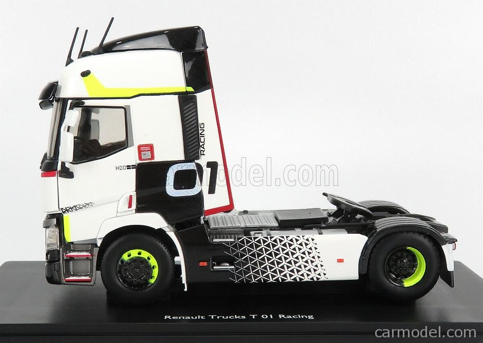 ELIGOR 116666 Scale 1/43  RENAULT T460 TRACTOR TRUCK N 01 RACING 2-ASSI 2016 WHITE BLACK LIGHT GREEN