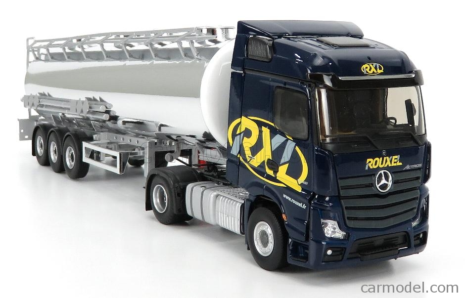 ELIGOR 116835 Масштаб 1/43  MERCEDES BENZ ACTROS 1848 TANKER TRUCK ROUXEL TRANSPORTS 2016 DARK BLUE CHROME