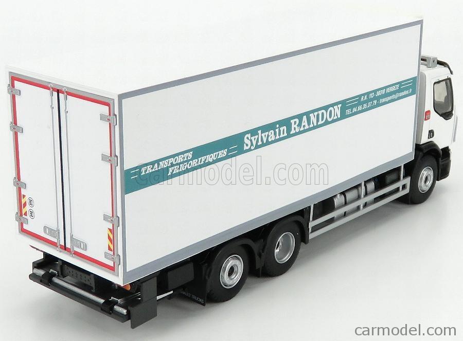ELIGOR 116832 Echelle 1/43  RENAULT D26 TRUCK SEMI-FRIGO RANDON TRANSPORTS 2017 WHITE GREEN