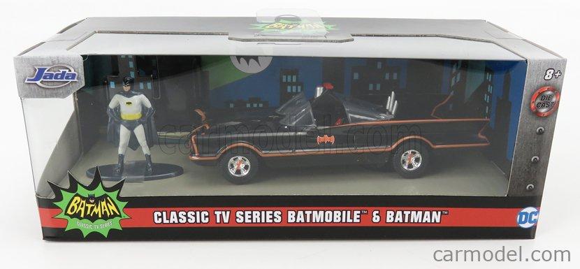 JADA 31703 Scale 1/32  BATMAN BATMOBILE 1966 - CLASSIC TV SERIES WITH BATMAN FIGURE BLACK RED