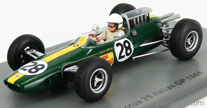 SPARK-MODEL S7293 Scale 1/43  LOTUS F1  25 N 28 ITALIAN GP 1965 G.RUSSO GREEN YELLOW