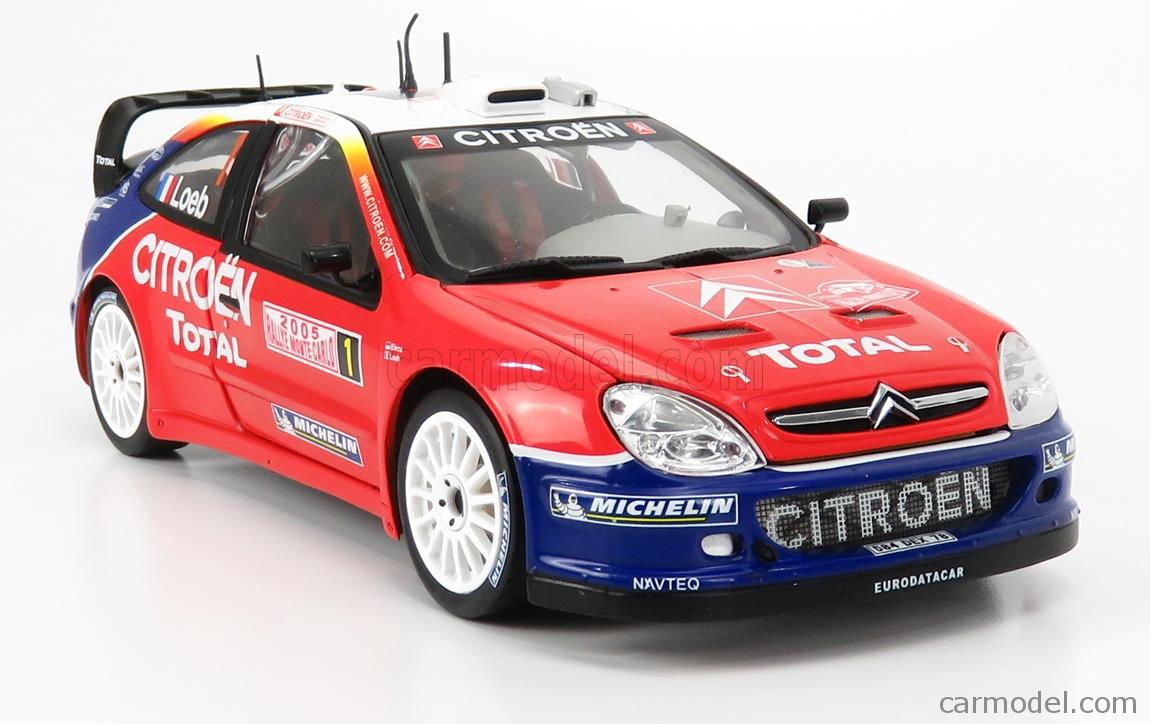 MONDOMOTORS MM50001 Масштаб 1/18  CITROEN XSARA WRC N 1 WINNER RALLY MONTECARLO WORLD CHAMPION 2005 S.LOEB - D.ELENA RED WHITE BLUE