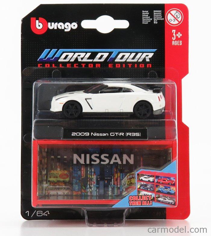 BURAGO BU59125 Scale 1/64  NISSAN GT-R COUPE 2008 WHITE PEARL MET