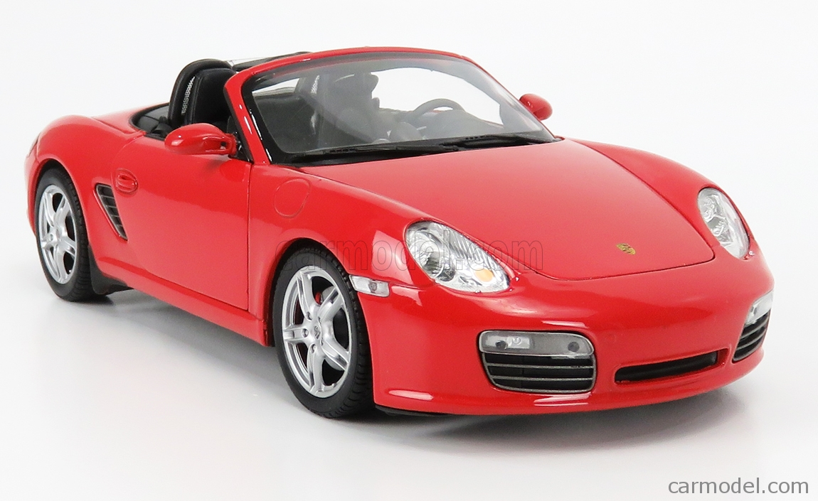 WELLY WE18005R Scale 1/18  PORSCHE BOXSTER S SPIDER 2012 RED