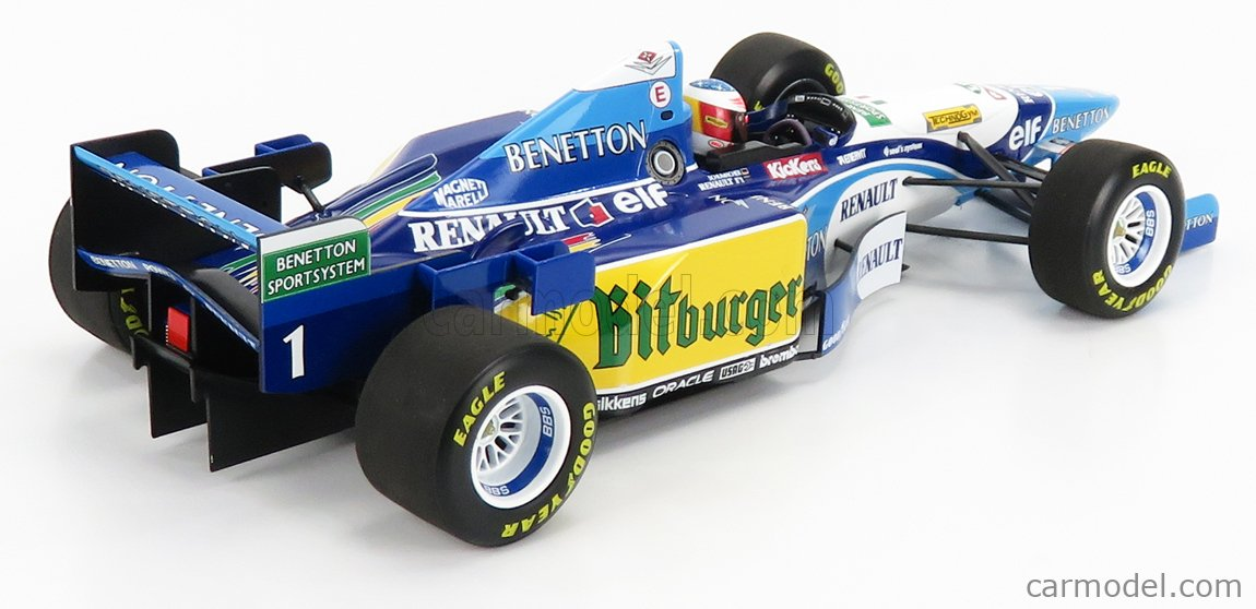 MINICHAMPS 510952701 Масштаб 1/18  BENETTON F1  B195 TEAM MILD SEVEN RENAULT N 1 MICHAEL SCHUMACHER SEASON 1995 WORLD CHAMPION LIGHT BLUE