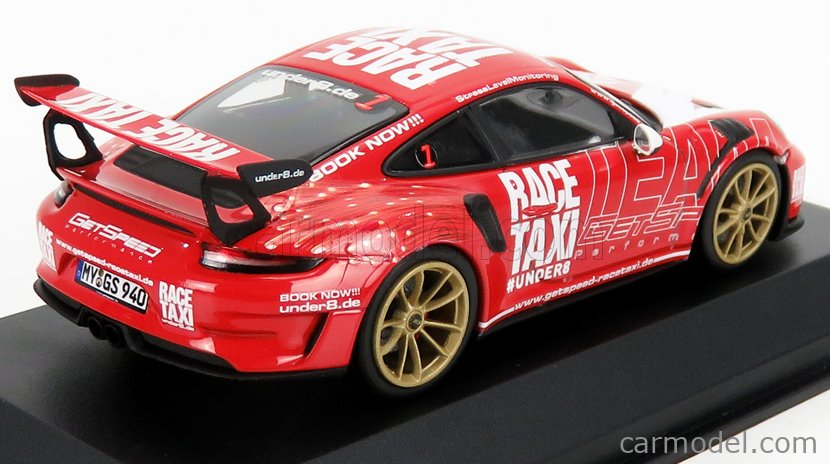 Porsche 911 Gt3rs 991.2 Getspeed Race Taxi 2019 1:43 Model MINICHAMPS