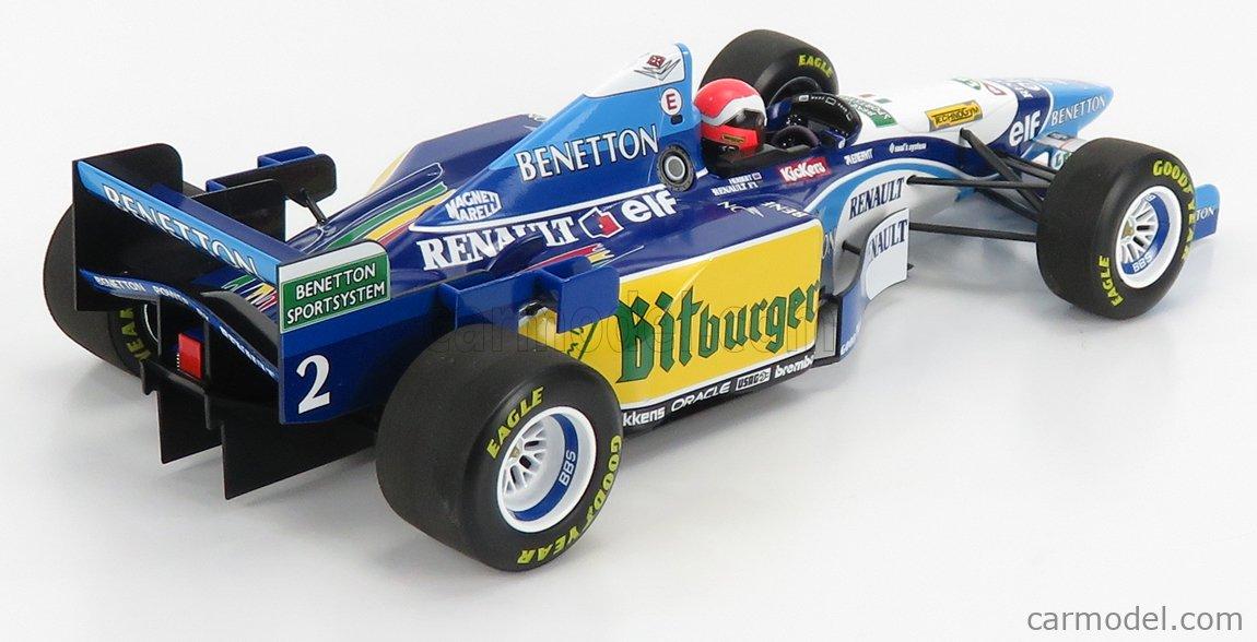 MINICHAMPS 110950802 Scale 1/18  BENETTON F1  B195 RENAULT N 2 WINNER ENGLAND SILVERSTONE GP 1995 J.HERBERT LIGHT BLUE WHITE
